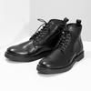 Czarne skórzane obuwie męskie za kostkę bata, czarny, 894-6721 - 16