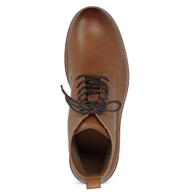 Brązowe skórzane obuwie męskie za kostkę bata, brązowy, 896-3721 - 17