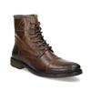 Zimowe skórzane buty męskie za kostkę bata, brązowy, 896-4716 - 13