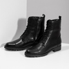 Czarne skórzane kozaki damskie bata, czarny, 594-6718 - 16