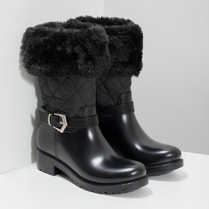 Czarne śniegowce damskie zfuterkiem bata, czarny, 592-6602 - 26