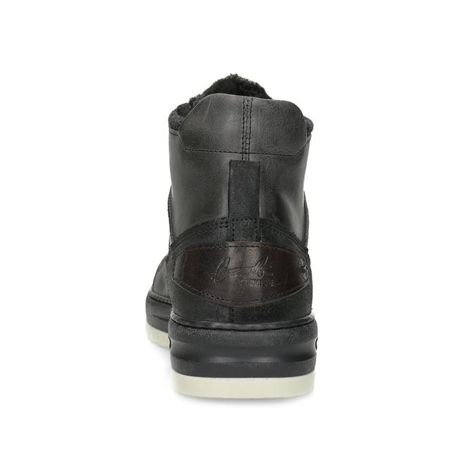 Czarne skórzane obuwie męskie za kostkę bata, czarny, 896-6712 - 15