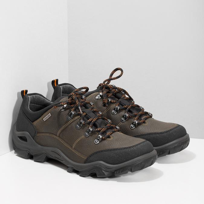 Skórzane obuwie męskie na grubej podeszwie weinbrenner, brązowy, 846-4806 - 26
