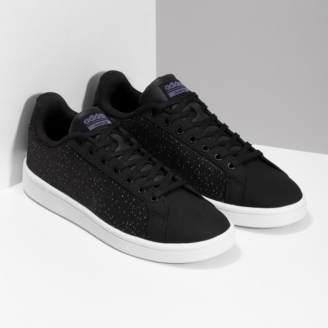 Czarne trampki męskie wdeseń adidas, czarny, 809-6104 - 26