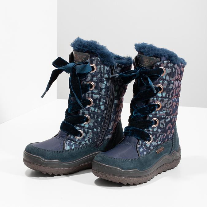 Śniegowce dziewczęce wpanterkę mini-b, niebieski, 299-9617 - 16