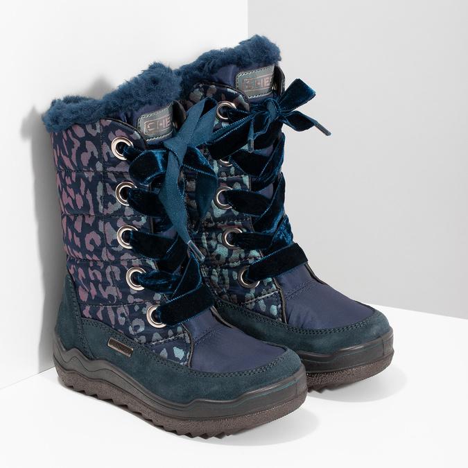 Śniegowce dziewczęce wpanterkę mini-b, niebieski, 299-9617 - 26