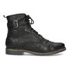 Skórzane obuwie męskie za kostkę, zfuterkiem bugatti, czarny, 826-6030 - 19