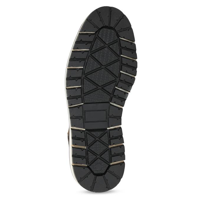 Skórzane obuwie męskie za kostkę bata, brązowy, 896-4666 - 18