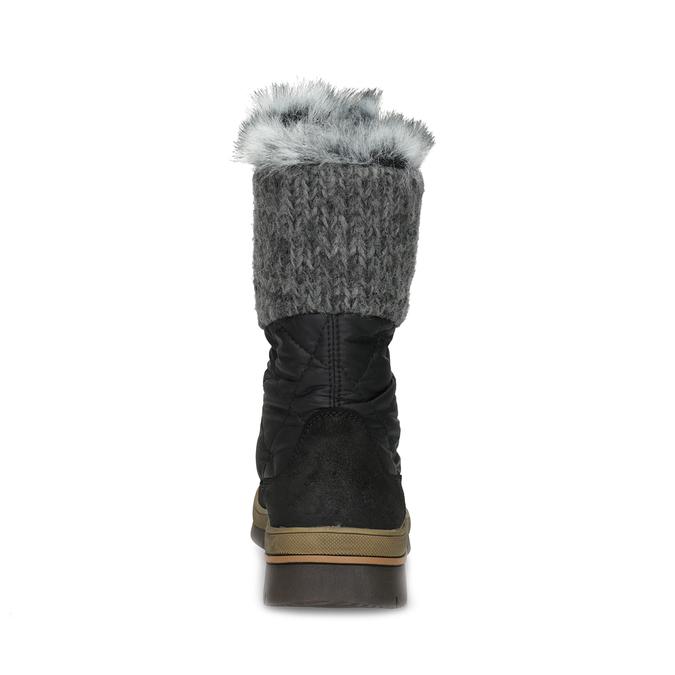 Czarne zimowe obuwie damskie zfuterkiem weinbrenner, czarny, 596-6755 - 15