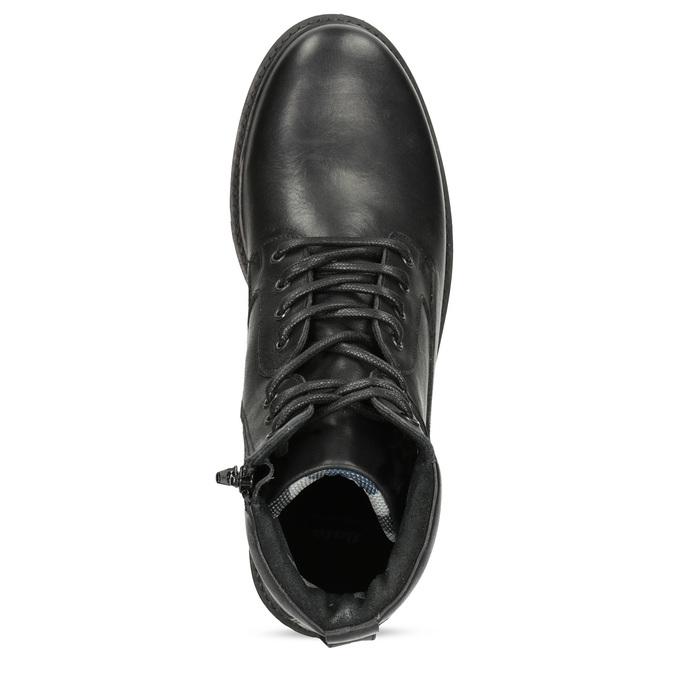 Zimowe botki męskie skórzane czarne bata, czarny, 896-6731 - 17