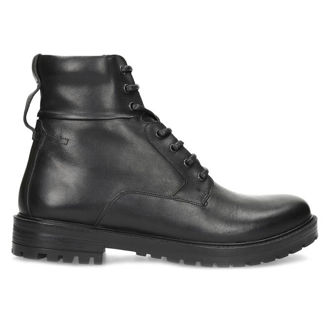 Zimowe botki męskie skórzane czarne bata, czarny, 896-6731 - 19