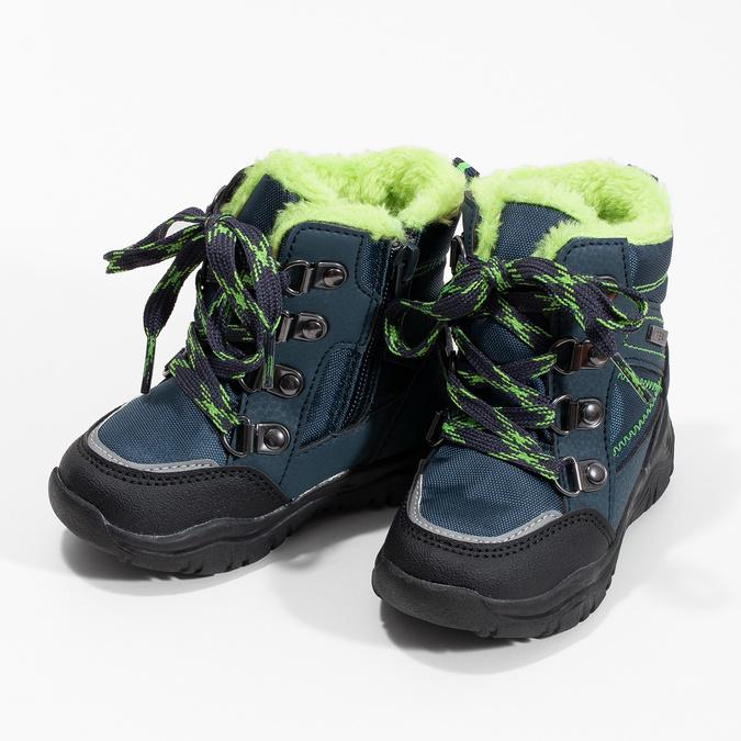 Sznurowane śniegowce dziecięce, niebieski, 199-9613 - 16