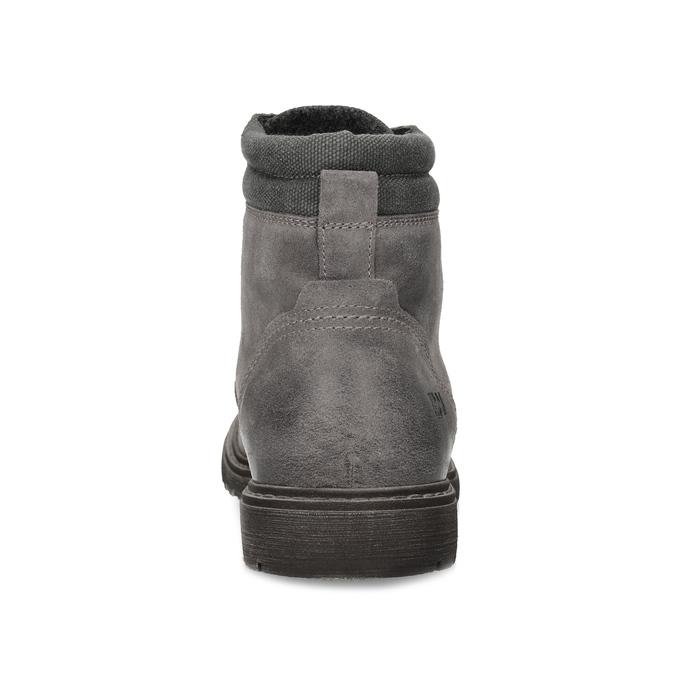 Szare skórzane obuwie męskie za kostkę weinbrenner, szary, 896-2693 - 15