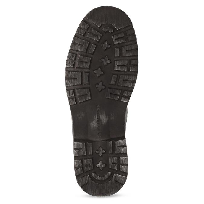Szare skórzane obuwie męskie za kostkę weinbrenner, szary, 896-2693 - 18