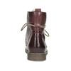 Skórzane botki damskie zociepliną bata, czerwony, 596-5702 - 15
