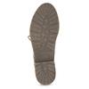Skórzane botki damskie zociepliną bata, czerwony, 596-5702 - 18