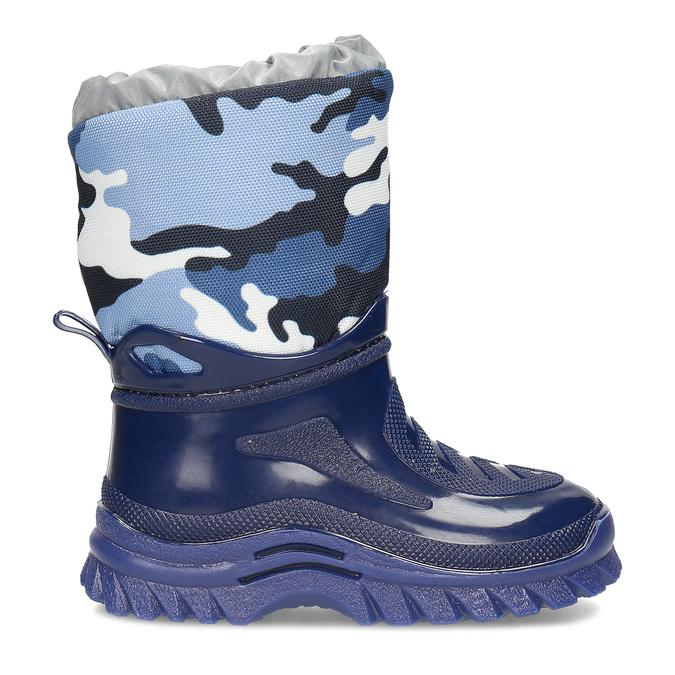 Granatowe śniegowce wdeseń moro mini-b, niebieski, 292-9301 - 19