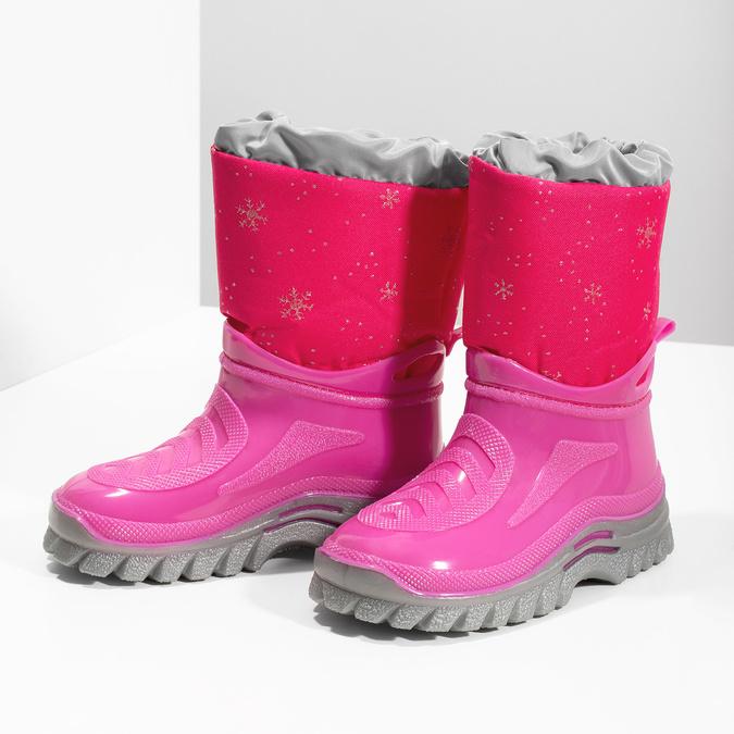 Różowe śniegowce zpłatkami śniegu mini-b, różowy, 292-5301 - 16