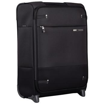 Czarna walizka na kółkach, zmateriału tekstylnego samsonite, czarny, 969-6618 - 13