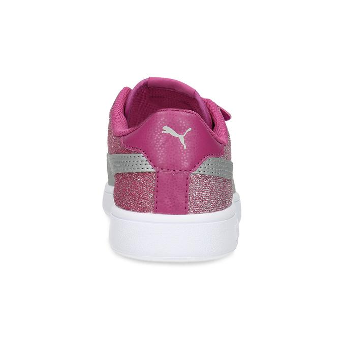 Różowe trampki dziecięce na rzepy puma, różowy, 301-5224 - 15