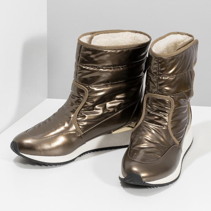 Damskie śniegowce brązowe bata, brąz, 599-8626 - 16