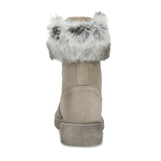 Beżowe zimowe kozaki damskie ze skóry weinbrenner, beżowy, 596-2753 - 15