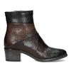 Brązowe skórzane botki zplastycznymi połączeniami bata, brązowy, 696-2653 - 19