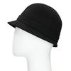 Czarny kapelusz damski zperełkami bata, czarny, 909-6283 - 26