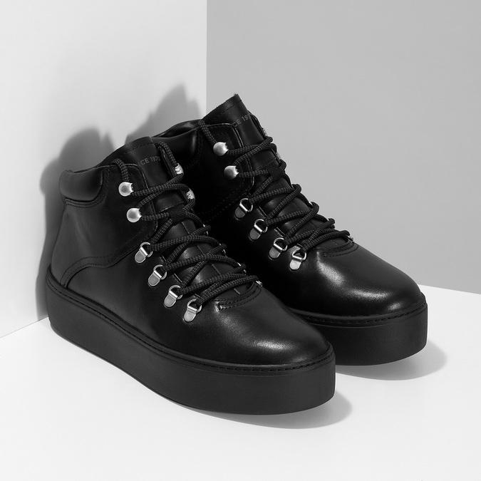 Zimowe skórzane obuwie damskie vagabond, czarny, 694-6018 - 26