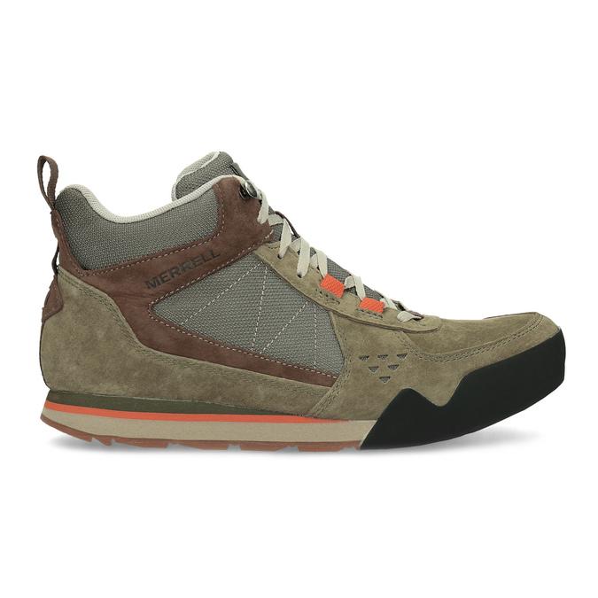 Skórzane obuwie męskie wstylu outdoor, wkolorze khaki merrell, khaki, 803-7104 - 19