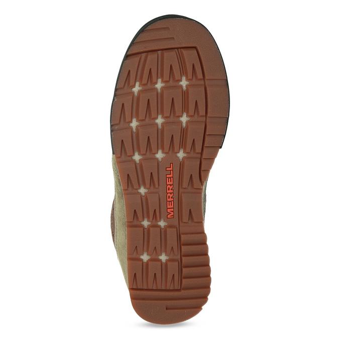 Skórzane obuwie męskie wstylu outdoor, wkolorze khaki merrell, khaki, 803-7104 - 18
