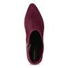 Bordowe botki na obcasach kitten rockport, czerwony, 719-5084 - 17