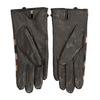 Brązowe skórzane rękawiczki damskie wkratkę bata, brązowy, 904-4138 - 16