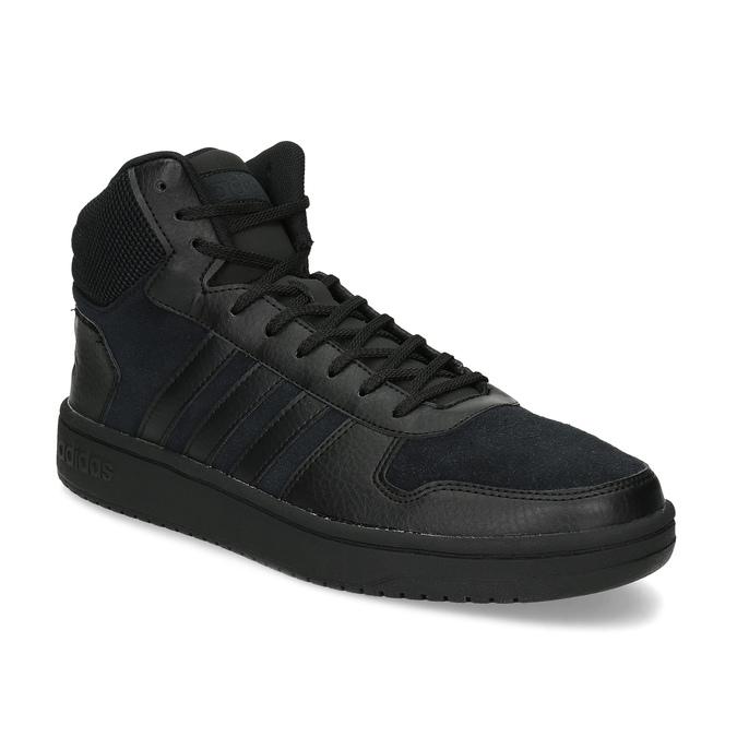 Czarne trampki męskie za kostkę adidas, czarny, 803-6118 - 13