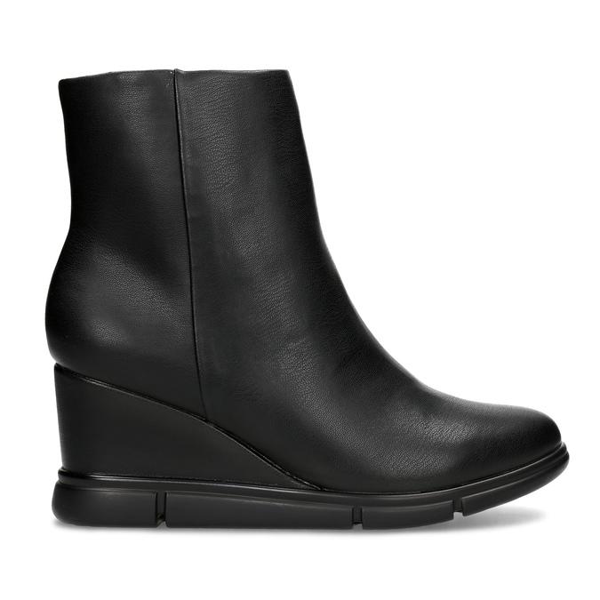 Czarne botki damskie na koturnach bata-b-flex, czarny, 791-6630 - 19