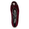Bordowe aksamitne baleriny gabor, czerwony, 629-5106 - 17