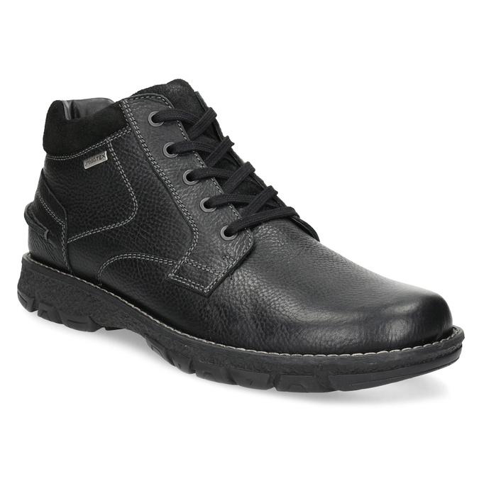 Zimowe skórzane obuwie męskie bata, czarny, 894-6715 - 13