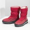 Czerwone śniegowce damskie na czarnej podeszwie bata, czerwony, 599-5625 - 16