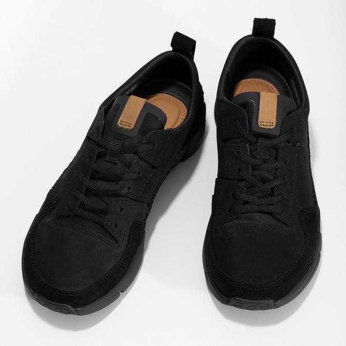 Czarne skórzane trampki męskie clarks, czarny, 824-6078 - 16