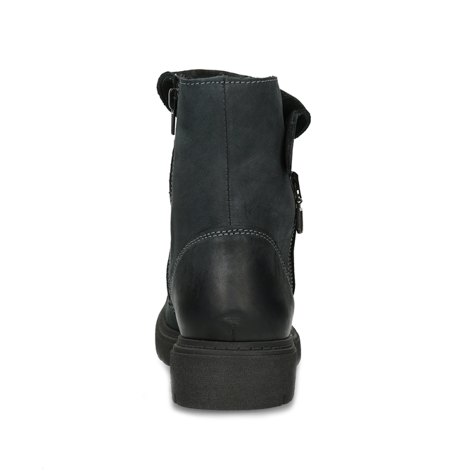 Zimowe skórzane obuwie damskie zprzeszyciami weinbrenner, czarny, 596-6751 - 15
