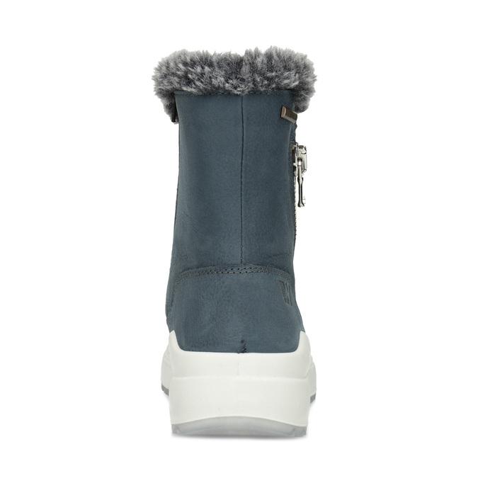 Niebieskie skórzane śniegowce damskie weinbrenner, niebieski, 593-9603 - 15