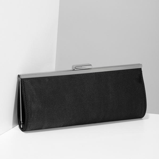 Czarna kopertówka damska na łańcuszku bata, czarny, 969-6811 - 17