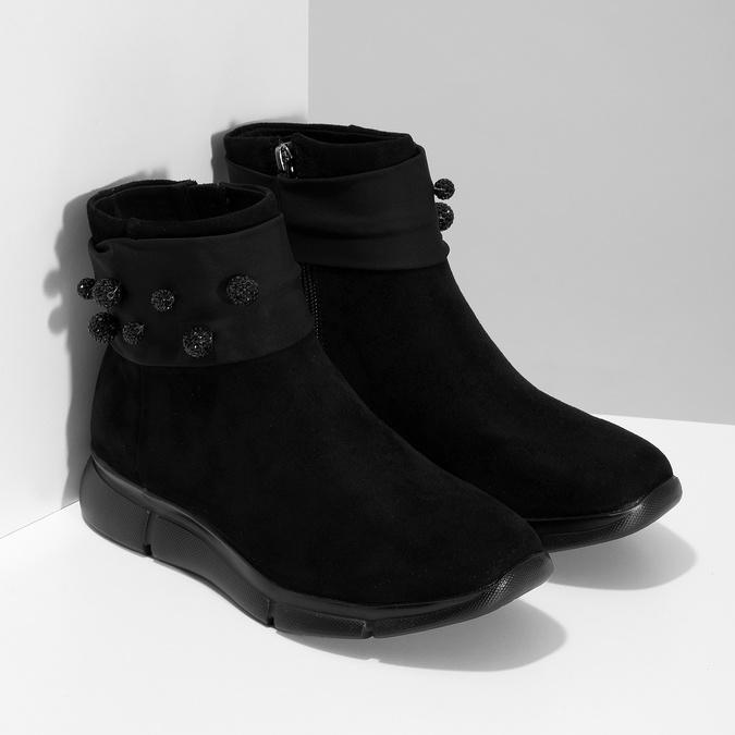Czarne damskie zkryształkami bata-b-flex, czarny, 599-6603 - 26
