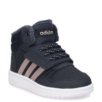Granatowe zimowe trampki dziecięce za kostkę adidas, niebieski, 101-9197 - 13