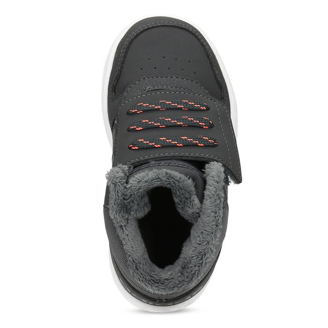 Szare zimowe trampki dziecięce za kostkę adidas, szary, 101-2197 - 17