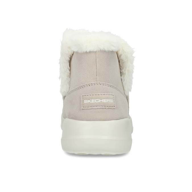 Beżowe skórzane obuwie zimowe zfuterkiem skechers, beżowy, 503-8124 - 15
