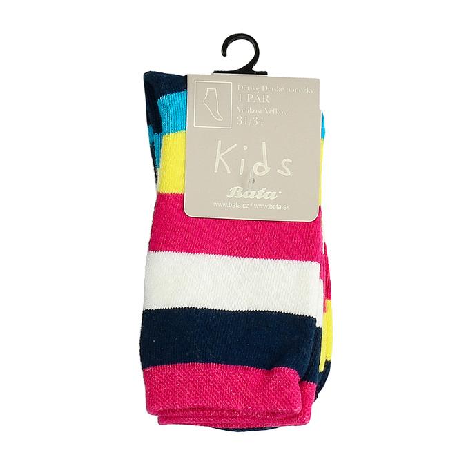 Długie skarpetki dziecięce wpaski bata, multi color, 919-5688 - 13