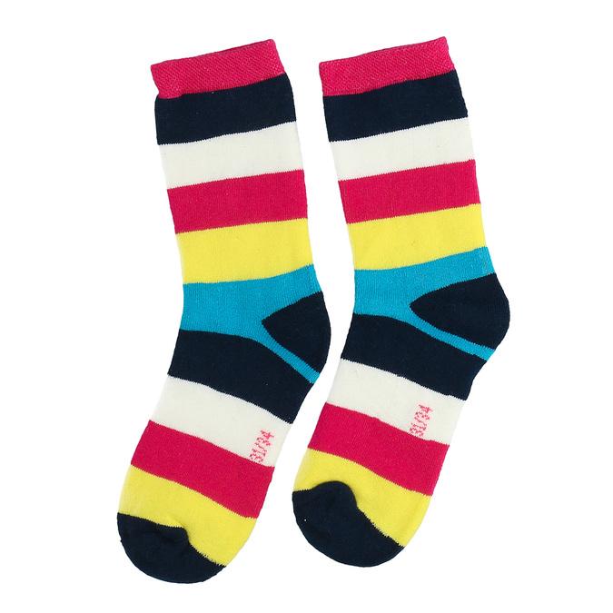 Długie skarpetki dziecięce wpaski bata, multi color, 919-5688 - 26