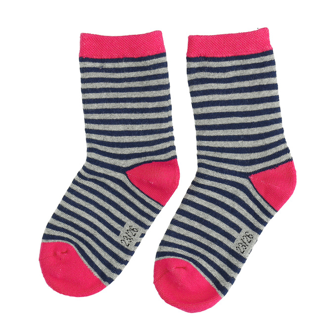 Długie skarpetki dziecięce wpaski bata, szary, 919-2688 - 26