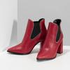 Czerwone botki typu chelsea bata, czerwony, 794-5609 - 16